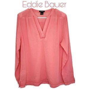 Eddie Bauer Split V Neck Tunic